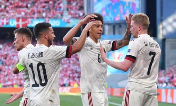 欧洲杯-德布劳内传射 阿扎尔助攻 比利时2-1丹麦